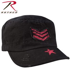 Rothco Women's Vintage Stripes & Stars Adjustable Fatigues Cap
