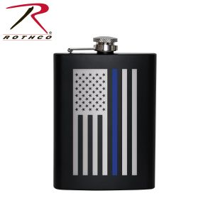 Rothco Stainless Steel Thin Blue Line Flag Flask