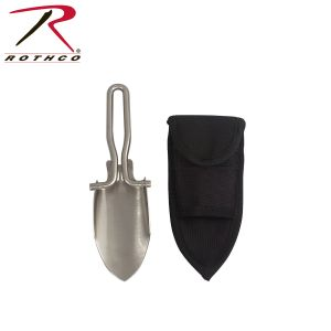 Rothco Stainless Steel Folding Shovel With Sheath