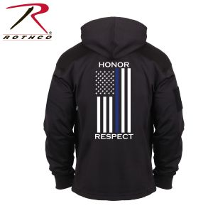Rothco Honor And Respect Thin Blue Line Concealed Carry Hoodie - Black